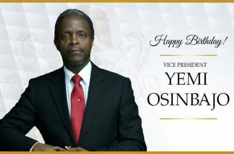 HAPPY BIRTHDAY!! Prof. Yemi Osinbajo Celebrates His 62nd Birthday Today
